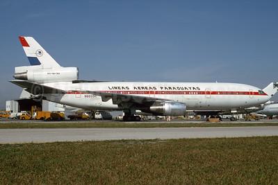 Lineas Aereas Paraguayas-LAP McDonnell Douglas DC-10-30 N602DC (msn 46976) MIA (Bruce Drum). Image: 104394.