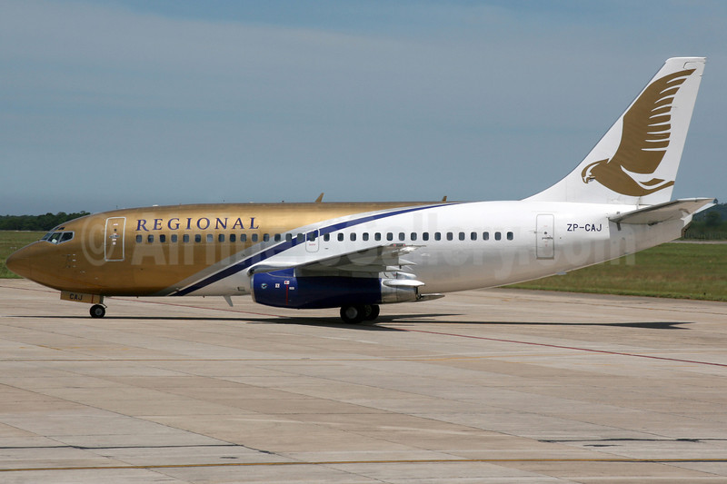 Regional Paraguaya Boeing 737-230 ZP-CAJ (msn 22124) FLN (AirSpeed). Image: 904560.