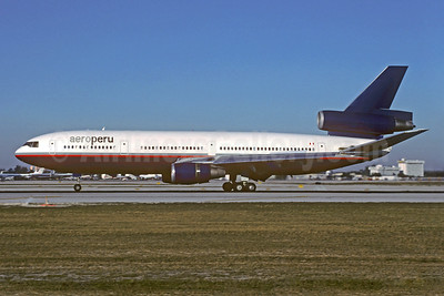 AeroPeru (1st) (Canadian Airlines International) McDonnell Douglas DC-10-30 C-FCRD (msn 47889) (Canadian colors) MIA (Christian Volpati Collection). Image: 931666.