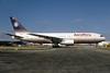 AeroPeru (1st) (Britannia Airways) Boeing 767-204 G-BLKV (msn 23072) (Britannia colors) MIA (Bruce Drum). Image: 103453.