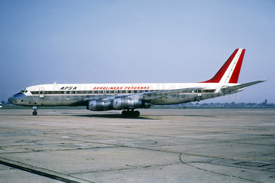 Aerolineas Peruanas-APSA McDonnell Douglas DC-8-52 OB-R-931 (msn 45619) (Jacques Guillem Collection). Image: 939519.