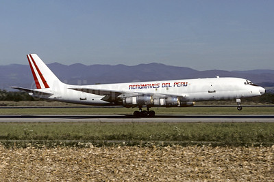 Aeronaves del Peru McDonnell Douglas DC-8F-55 OB1244 (msn 45763) BSL (Christian Volpati Collection). Image: 947828.