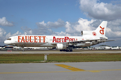 Faucett Peru-Aero Peru Lockheed L-1011-385-1-14 TriStar 100 OB1455 (msn 1002) MIA (Bruce Drum). Image: 102706.