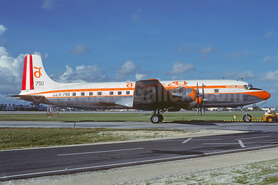 Faucett Peru Douglas DC-6B (F) OB-R-750 (msn 45505) MIA (Bruce Drum). Image: 102701.