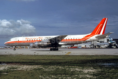 Faucett Peru McDonnell Douglas DC-8-53 OB-R-1223 (msn 45420) MIA (Jacques Guillem Collection). Image: 945919.