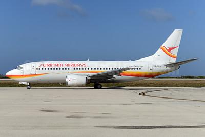Surinam Airways Boeing 737-36N PZ-TCN (msn 28668) CUR (Ton Jochems). Image: 931440.