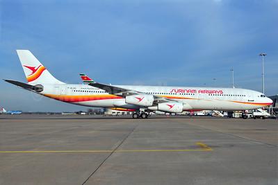 Surinam Airways Airbus A340-311 F-GLZG (PZ-TCP) (msn 049) AMS (Ton Jochems). Image: 904190.