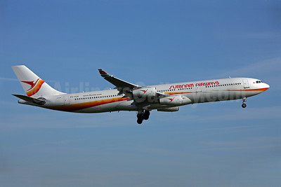 Surinam Airways Airbus A340-311 PZ-TCP (msn 049) AMS (Ariel Shocron). Image: 905073.