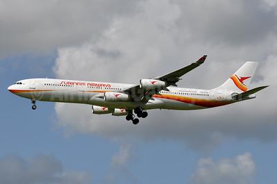 Surinam Airways Airbus A340-311 PZ-TCP (msn 049) AMS (Tony Storck). Image: 920731.
