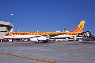 Surinam Airways (Arrow Air 2nd) McDonnell Douglas DC-8-62 N1809E (msn 46107) MIA (Bruce Drum). Image: 102415.