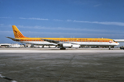 Surinam Airways (Arrow Air 2nd) McDonnell Douglas DC-8-63 N4935C (msn 45931) MIA (Bruce Drum). Image: 102424.
