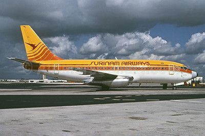 Surinam Airways (Maersk Air) Boeing 737-2L9 OY-APR (msn 22407) MIA (Bruce Drum). Image: 102418.