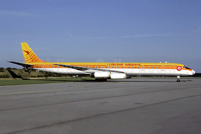 Surinam Airways (Arrow Air 2nd) McDonnell Douglas DC-8-63 N4935C (msn 45931) (Christian Volpati Collection). Image: 951407.
