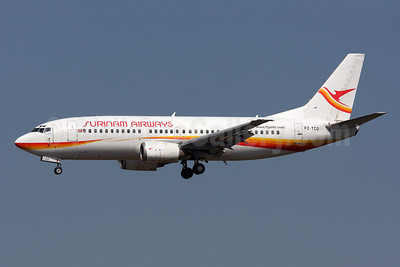 Surinam Airways Boeing 737-36N PZ-TCO (msn 28669) MIA (Brian McDonough). Image: 908577.