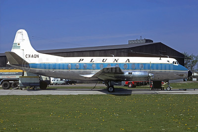PLUNA Lineas Aereas Vickers Viscount 769 CX-AQN (msn 321) BOH (Christian Volpati Collection). Image: 937205.