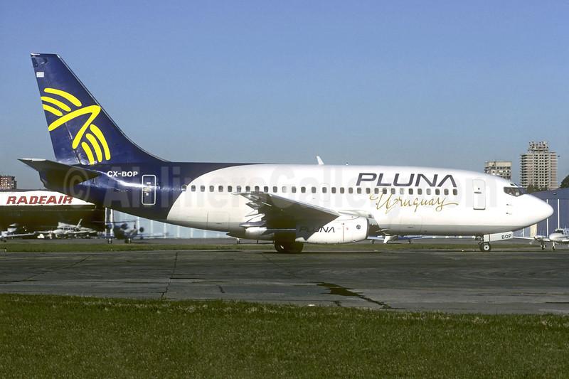 PLUNA Uruguay (PLUNA Lineas Aereas) Boeing 737-2A3 CX-BOP (msn 22739) AEP (Christian Volpati). Image: 937207.