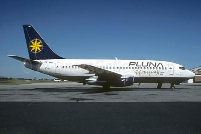 PLUNA Uruguay (PLUNA Lineas Aereas) (VARIG 1st) Boeing 737-247 PP-VMI (msn 21004) (VARIG colors) MVD (Christian Volpati). Image: 937210.