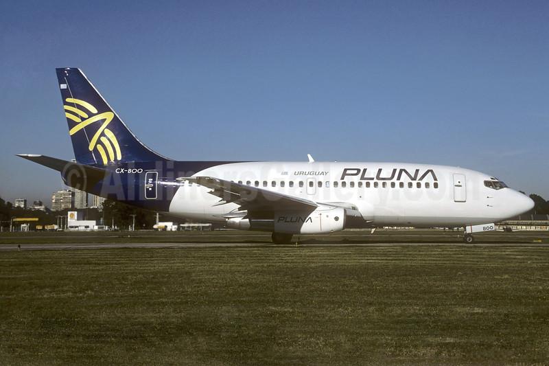 PLUNA Uruguay (PLUNA Lineas Aereas) Boeing 737-2A3 CX-BOO (msn 22738) AEP (Christian Volpati). Image: 937206.
