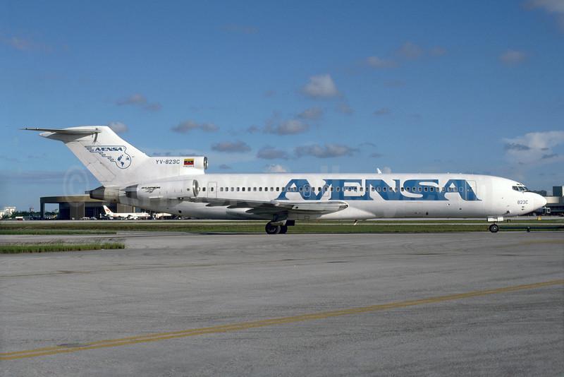 AVENSA Boeing 727-2D3 YV-823C (msn 22269) MIA (Bruce Drum). Image: 103941.