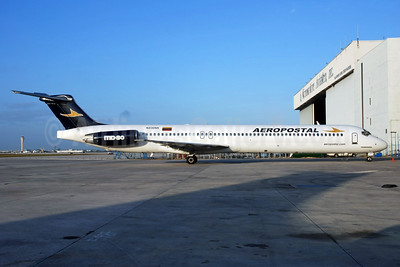 Aeropostal (Venezuela) (Falcon Air Express) McDonnell Douglas DC-9-83 (MD-83) N836NK (msn 53045) MIA (Bruce Drum). Image: 103794.