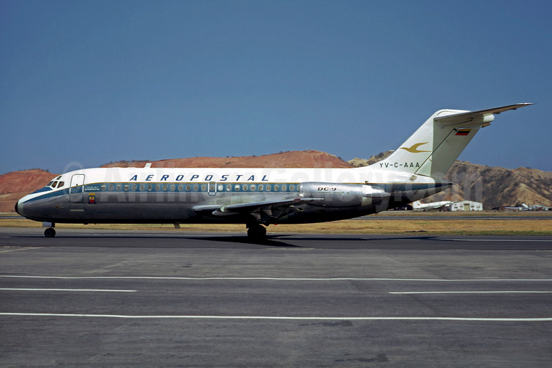 Aeropostal (Venezuela) Douglas DC-9-14 YV-C-AAA (msn 47309) CCS (Christian Volpati). Image: 901964.
