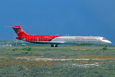 Aserca Airlines McDonnell Douglas DC-9-82 (MD-82) YV494T (msn 49521) CUR (Jacques Guillem Collection). Image: 940968.