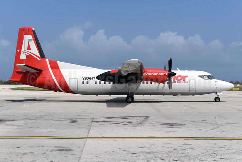 Avior Regional Fokker F.27 Mk. 050 YV2917 (msn 20193) CUR (Ton Jochems). Image: 931443.