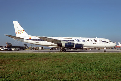 Midas Airlines (Fine Air Services) McDonnell Douglas DC-8-51 (F) YV505C (msn 45410) MIA (Bruce Drum). Image: 105018.