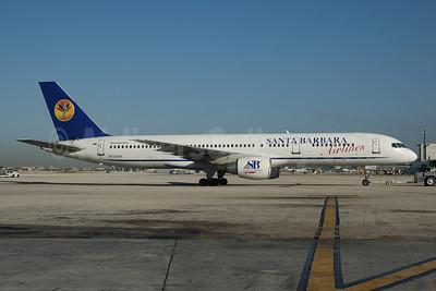 Santa Barbara Airlines (TransMeridian Airlines) Boeing 757-231 N720TW (msn 30319) MIA (Bruce Drum). Image: 100366.