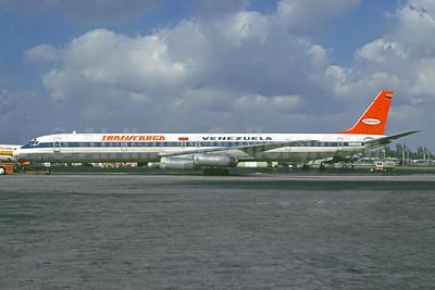 Transcarga Aereos de Carga (1st) McDonnell Douglas DC-8-63CF YV-130C (msn 46052) MIA (Christian Volpati Collection). Image: 944154.
