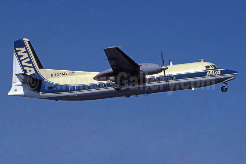 MVA (Mississippi Valley Airlines) Fokker F.27 Mk. 500 N334MV (msn 10596) ML (Jay Selman). Image: 400177.