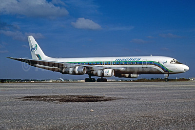 Mackey International Airlines (2nd) McDonnell Douglas DC-8-51 N821E (msn 45877) OPF (Bruce Drum). Image: 102589.
