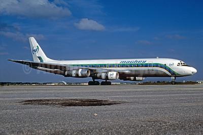 Mackey International Airlines (2nd) McDonnell Douglas DC-8-51 N821E (msn 45877) OPF (Bruce Drum). Image: 102589.
