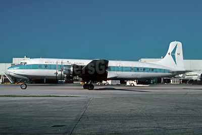Mackey International Airlines (2nd) Douglas DC-6B N37580 (msn 45132) MIA (Bruce Drum). Image: 102588.
