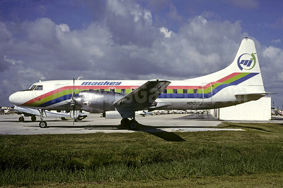 Mackey International Airlines (2nd) Convair 580 N9012J (msn 56) FLL (Christian Volpati Collection). Image: 909592.