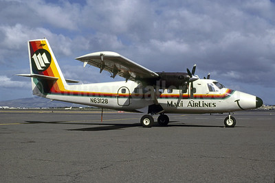 Maui Airlines de Havilland Canada DHC-6-200 Twin Otter N63128 (msn 128) HNL (Charles R. Stewart, Jr. - Bruce Drum Collection). Image: 947909.