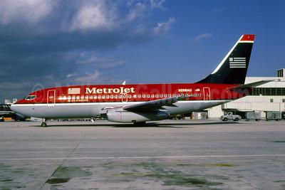 MetroJet-US Airways Boeing 737-2B7 N268AU (msn 22880) MIA (Bruce Drum). Image: 103127.
