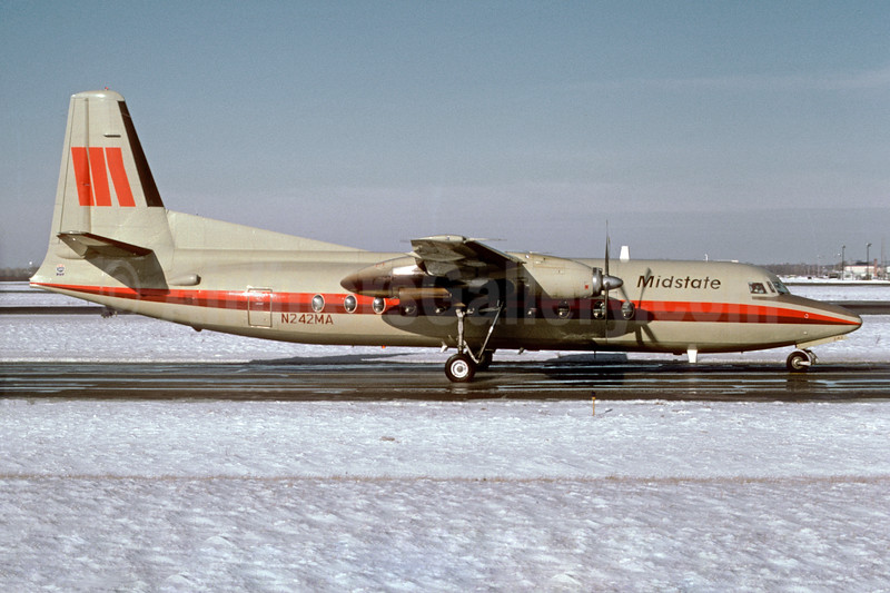 Midstate Airlines Fokker F.27 Mk. 500 N242MA (msn 10678) ORD (Dave Campbell). Image: 930193.