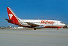 Midway Airlines (1st) Boeing 737-2K9 N701ML (msn 23405) MIA (Bruce Drum). Image: 102522.