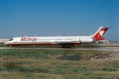 Midway Airlines (1st) McDonnell Douglas MD-88 N904ML (msn 49766) MDW (Ronald A. Kluk). Image: 909279.