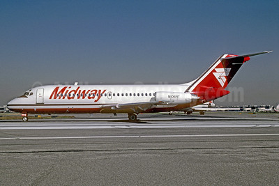 Midway Airlines (1st) Douglas DC-9-15 N1064T (msn 45778) PHL (Robert Drum). Image: 102519.