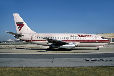 Midway Express Boeing 737-2T4 EI-BRN (N51AF) (msn 22529) MDW (Rob Rindt Collection). Image: 950286.