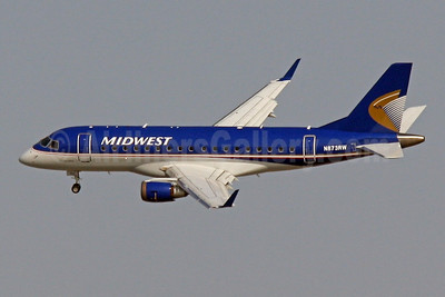 Midwest Airlines-Republic Airlines (2nd) Embraer ERJ 170-100SE N873RW (msn 17000144) DCA (Brian McDonough). Image: 913912.