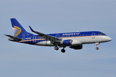Midwest Airlines-Republic Airlines (2nd) Embraer ERJ 170-100SE N873RW (msn 17000144) DCA (Tony Storck). Image: 913913.