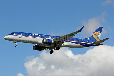 Midwest Airlines-Republic Airlines (2nd) Embraer ERJ 190-100 IGW N168HQ (msn 19000183) LAX (Michael B. Ing). Image: 913918.