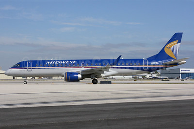 Midwest Airlines-Republic Airlines (2nd) Embraer ERJ 190-100 IGW N170HQ (msn 19000191) FLL (Wingnut). Image: 922047.