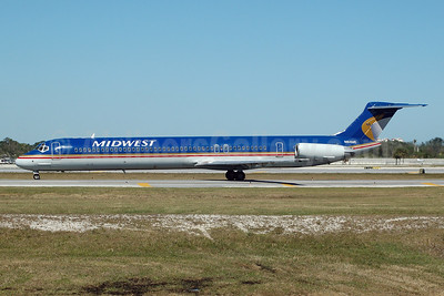 Midwest Airlines (USA) McDonnell Douglas DC-9-81 (MD-81) N814ME (msn 48010) FLL (Bruce Drum). Image: 104818