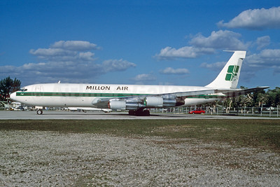 Millon Air Boeing 707-321C N722GS (msn 19373) MIA (Bruce Drum). Image: 103233.