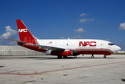 NAC-Northern Air Cargo Boeing 737-232 (F) N321DL (msn 23093) MIA (Bruce Drum). Image: 101909.