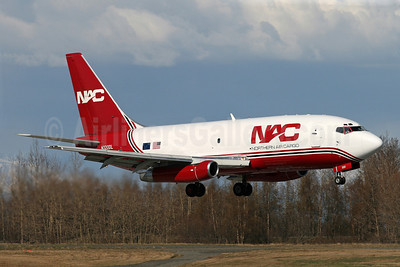 NAC-Northern Air Cargo Boeing 737-232 (F) N320DL (msn 23092) ANC (Brian McDonough). Image: 906997.